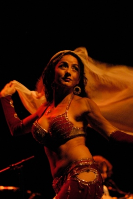 Belly dancer at QEH