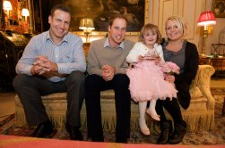 With Prince William!