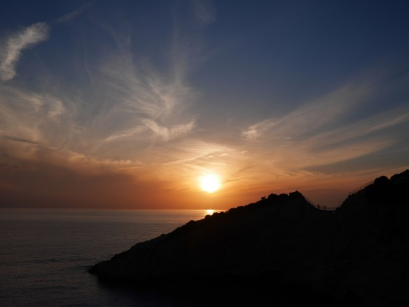sunset over Porto Katsiki, Lefkada