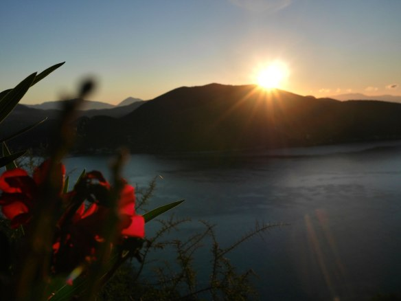 Sunrise over Lefkada, Greece