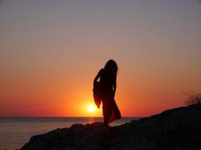 Silvia at sunrise